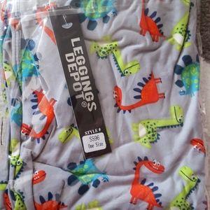 One Size Dinosaur leggings